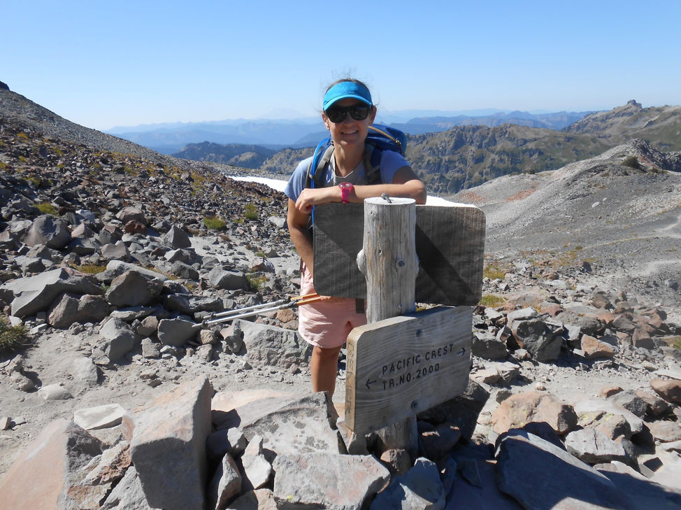 Julie hiking on the Pacific Crest Trail